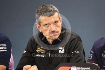 World © Octane Photographic Ltd. Formula 1 - Hungarian GP – Friday FIA Team Press Conference. Guenther Steiner - Team Principal of Rich Energy Haas F1 Team. Circuit de Spa Francorchamps, Belgium. Friday 29th August 2019.