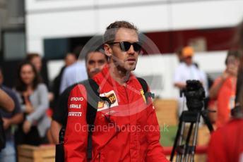 World © Octane Photographic Ltd. Formula 1 – Belgium GP - Paddock. Scuderia Ferrari SF90 – Sebastian Vettel. Circuit de Spa Francorchamps, Belgium. Sunday 1st September 2019.