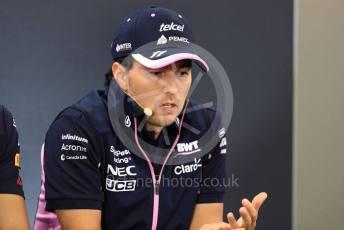 World © Octane Photographic Ltd. Formula 1 – Belgium GP - Paddock. SportPesa Racing Point - Sergio Perez. Circuit de Spa Francorchamps, Belgium. Thursday 28th August 2019.