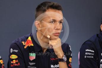 World © Octane Photographic Ltd. Formula 1 – Belgium GP. FIA Drivers Press Conference. Aston Martin Red Bull Racing – Alexander Albon. Circuit de Spa Francorchamps, Belgium. Thursday 28th August 2019.