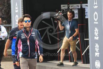 World © Octane Photographic Ltd. Formula 1 – Belgium GP - Paddock. SportPesa Racing Point RP19 - Sergio Perez. Circuit de Spa Francorchamps, Belgium. Thursday 28th August 2019.