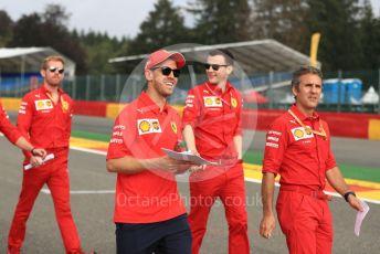 World © Octane Photographic Ltd. Formula 1 – Belgium GP - Paddock. Scuderia Ferrari SF90 – Sebastian Vettel. Circuit de Spa Francorchamps, Belgium. Thursday 28th August 2019.