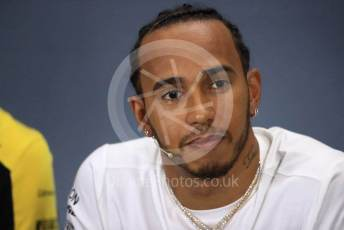 World © Octane Photographic Ltd. Formula 1 – British GP. FIA Drivers Press Conference. Mercedes AMG Petronas Motorsport - Lewis Hamilton. Silverstone Circuit, Towcester, Northamptonshire. Thursday 11th July 2019.