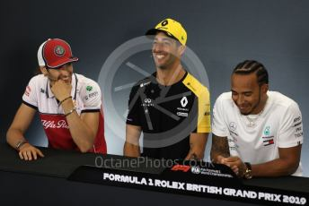 World © Octane Photographic Ltd. Formula 1 – British GP. FIA Drivers Press Conference. Renault Sport F1 Team – Daniel Ricciardo. Silverstone Circuit, Towcester, Northamptonshire. Thursday 11th July 2019.