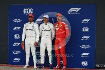 World © Octane Photographic Ltd. Formula 1 – British GP - Qualifying. Mercedes AMG Petronas Motorsport AMG F1 W10 EQ Power+ - Valtteri Bottas followed by Lewis Hamilton and Scuderia Ferrari SF90 – Charles Leclerc.. Silverstone Circuit, Towcester, Northamptonshire. Saturday 13th July 2019.