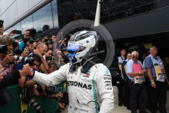 World © Octane Photographic Ltd. Formula 1 – British GP - Race - Podium. Mercedes AMG Petronas Motorsport AMG F1 W10 EQ Power+ - Valtteri Bottas. Silverstone Circuit, Towcester, Northamptonshire. Sunday 14th July 2019.
