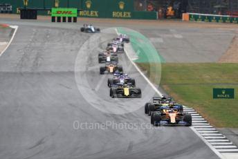 World © Octane Photographic Ltd. Formula 1 – British GP - Race. McLaren MCL34 – Lando Norris. Silverstone Circuit, Towcester, Northamptonshire. Sunday 14th July 2019.