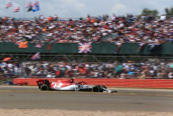 World © Octane Photographic Ltd. Formula 1 – British GP - Race. Alfa Romeo Racing C38 – Antonio Giovinazzi. Silverstone Circuit, Towcester, Northamptonshire. Sunday 14th July 2019.