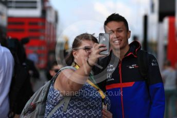 World © Octane Photographic Ltd. Formula 1 – British GP - Paddock. Scuderia Toro Rosso STR14 – Alexander Albon. Silverstone Circuit, Towcester, Northamptonshire. Friday 12th July 2019.