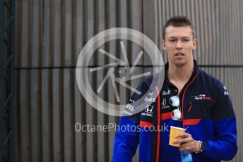 World © Octane Photographic Ltd. Formula 1 – British GP - Paddock. Scuderia Toro Rosso STR14 – Daniil Kvyat. Silverstone Circuit, Towcester, Northamptonshire. Friday 12th July 2019.