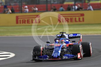 World © Octane Photographic Ltd. Formula 1 – British GP - Practice 1. Scuderia Toro Rosso STR14 – Daniil Kvyat. Silverstone Circuit, Towcester, Northamptonshire. Friday 12th July 2019.