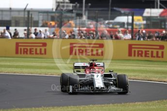 World © Octane Photographic Ltd. Formula 1 – British GP - Practice 1. Alfa Romeo Racing C38 – Kimi Raikkonen. Silverstone Circuit, Towcester, Northamptonshire. Friday 12th July 2019.