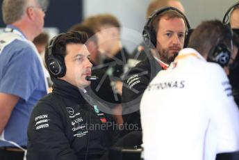 World © Octane Photographic Ltd. Formula 1 - British GP - Practice 3.. Toto Wolff - Executive Director & Head of Mercedes - Benz Motorsport. Silverstone Circuit, Towcester, Northamptonshire. Saturday 13th July 2019.