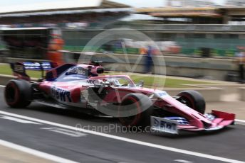 World © Octane Photographic Ltd. Formula 1 – British GP - Practice 3. SportPesa Racing Point RP19 - Sergio Perez. Silverstone Circuit, Towcester, Northamptonshire. Saturday 13th July 2019.