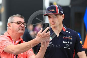 World © Octane Photographic Ltd. Formula 1 – British GP - Paddock. Aston Martin Red Bull Racing RB15 – Max Verstappen. Silverstone Circuit, Towcester, Northamptonshire. Saturday 13th July 2019.