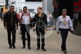 World © Octane Photographic Ltd. Formula 1 - British GP - Paddock. Cyril Abiteboul - Managing Director of Renault Sport Racing Formula 1 Team. Silverstone Circuit, Towcester, Northamptonshire. Saturday 13th July 2019.