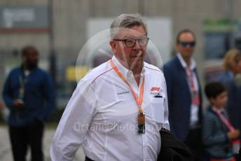 World © Octane Photographic Ltd. Formula 1 - British GP - Paddock. Ross Brawn – Managing Director of Formula 1 for Liberty Media. Silverstone Circuit, Towcester, Northamptonshire. Sunday 14th July 2019.