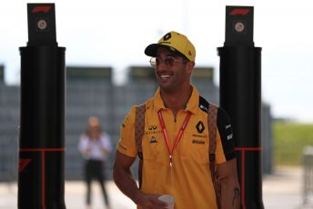 World © Octane Photographic Ltd. Formula 1 – British GP - Paddock. Renault Sport F1 Team RS19 – Daniel Ricciardo. Silverstone Circuit, Towcester, Northamptonshire. Thursday 11th July 2019.