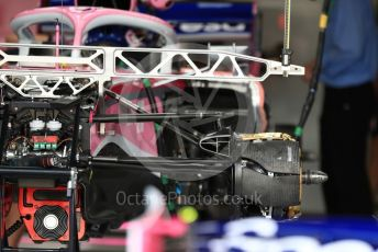 World © Octane Photographic Ltd. Formula 1 – British GP - Pit Lane. SportPesa Racing Point RP19.  Silverstone Circuit, Towcester, Northamptonshire. Thursday 11th July 2019.