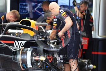 World © Octane Photographic Ltd. Formula 1 – British GP - Pit Lane. McLaren MCL34. Silverstone Circuit, Towcester, Northamptonshire. Thursday 11th July 2019.