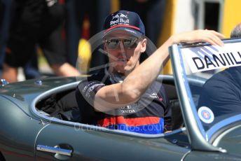 World © Octane Photographic Ltd. Formula 1 – Canadian GP. Drivers' parade. Scuderia Toro Rosso STR14 – Daniil Kvyat. Circuit de Gilles Villeneuve, Montreal, Canada. Sunday 9th June 2019.