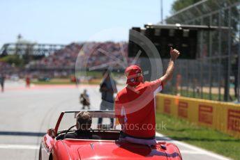 World © Octane Photographic Ltd. Formula 1 – Canadian GP. Drivers' parade. Scuderia Ferrari SF90 – Sebastian Vettel. Circuit de Gilles Villeneuve, Montreal, Canada. Sunday 9th June 2019.