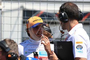 World © Octane Photographic Ltd. Formula 1 – Canadian GP. Grid. McLaren MCL34 – Carlos Sainz. Circuit de Gilles Villeneuve, Montreal, Canada. Sunday 9th June 2019.