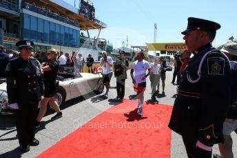World © Octane Photographic Ltd. Formula 1 – Canadian GP. Drivers' parade. Mercedes AMG Petronas Motorsport AMG F1 W10 EQ Power+ - Lewis Hamilton. Circuit de Gilles Villeneuve, Montreal, Canada. Sunday 9th June 2019.