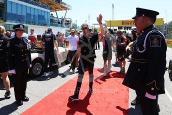 World © Octane Photographic Ltd. Formula 1 – Canadian GP. Drivers' parade. Rich Energy Haas F1 Team VF19 – Romain Grosjean. Circuit de Gilles Villeneuve, Montreal, Canada. Sunday 9th June 2019.