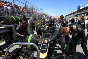 World © Octane Photographic Ltd. Formula 1 – Canadian GP. Grid. Rich Energy Haas F1 Team VF19 – Romain Grosjean. Circuit de Gilles Villeneuve, Montreal, Canada. Sunday 9th June 2019.