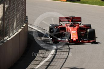 World © Octane Photographic Ltd. Formula 1 – Canadian GP. Practice 1. Scuderia Ferrari SF90 – Sebastian Vettel. Circuit de Gilles Villeneuve, Montreal, Canada. Friday 7th June 2019.