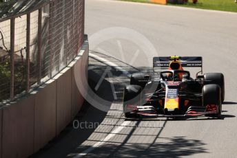 World © Octane Photographic Ltd. Formula 1 – Canadian GP. Practice 1. Aston Martin Red Bull Racing RB15 – Pierre Gasly. Circuit de Gilles Villeneuve, Montreal, Canada. Friday 7th June 2019.