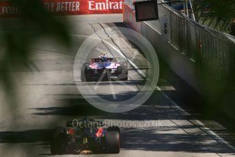 World © Octane Photographic Ltd. Formula 1 – Canadian GP. Practice 1. SportPesa Racing Point RP19 – Lance Stroll and Scuderia Toro Rosso STR14 – Daniil Kvyat. Circuit de Gilles Villeneuve, Montreal, Canada. Friday 7th June 2019.
