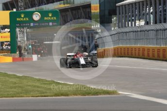 World © Octane Photographic Ltd. Formula 1 – Canadian GP. Practice 1. Alfa Romeo Racing C38 – Kimi Raikkonen. Circuit de Gilles Villeneuve, Montreal, Canada. Friday 7th June 2019.