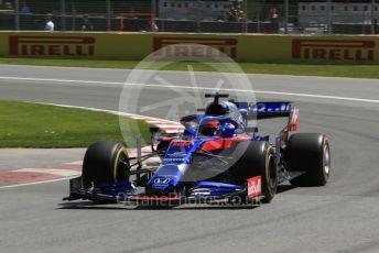 World © Octane Photographic Ltd. Formula 1 – Canadian GP. Practice 1. Scuderia Toro Rosso STR14 – Daniil Kvyat. Circuit de Gilles Villeneuve, Montreal, Canada. Friday 7th June 2019.