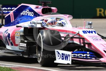 World © Octane Photographic Ltd. Formula 1 – Canadian GP. Practice 2. SportPesa Racing Point RP19 - Sergio Perez. Circuit de Gilles Villeneuve, Montreal, Canada. Friday 7th June 2019.