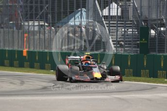 World © Octane Photographic Ltd. Formula 1 – Canadian GP. Practice 2. Aston Martin Red Bull Racing RB15 – Pierre Gasly. Circuit de Gilles Villeneuve, Montreal, Canada. Friday 7th June 2019.