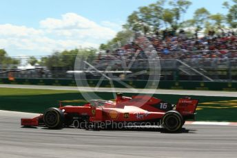 World © Octane Photographic Ltd. Formula 1 – Canadian GP. Practice 2. Scuderia Ferrari SF90 – Charles Leclerc. Circuit de Gilles Villeneuve, Montreal, Canada. Friday 7th June 2019.