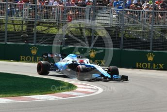 World © Octane Photographic Ltd. Formula 1 – Canadian GP. Practice 2. ROKiT Williams Racing FW42 – Robert Kubica. Circuit de Gilles Villeneuve, Montreal, Canada. Friday 7th June 2019.