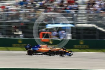 World © Octane Photographic Ltd. Formula 1 – Canadian GP. Practice 2. McLaren MCL34 – Carlos Sainz. Circuit de Gilles Villeneuve, Montreal, Canada. Friday 7th June 2019.