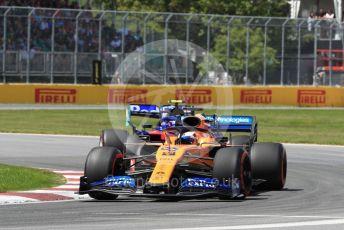World © Octane Photographic Ltd. Formula 1 – Canadian GP. Qualifying. McLaren MCL34 – Carlos Sainz. Circuit de Gilles Villeneuve and Scuderia Toro Rosso STR14 – Alexander Albon, Montreal, Canada. Saturday 8th June 2019.