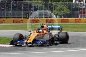 World © Octane Photographic Ltd. Formula 1 – Canadian GP. Qualifying. McLaren MCL34 – Lando Norris. Circuit de Gilles Villeneuve, Montreal, Canada. Saturday 8th June 2019.