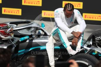 World © Octane Photographic Ltd. Formula 1 – Canadian GP. Parc Ferme. Mercedes AMG Petronas Motorsport AMG F1 W10 EQ Power+ - Lewis Hamilton. Circuit de Gilles Villeneuve, Montreal, Canada. Sunday 9th June 2019.