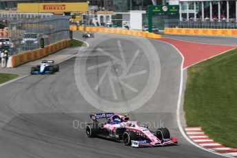 World © Octane Photographic Ltd. Formula 1 – Canadian GP. Race. ROKiT Williams Racing FW 42 – George Russell and SportPesa Racing Point RP19 – Lance Stroll. Circuit de Gilles Villeneuve, Montreal, Canada. Sunday 9th June 2019.