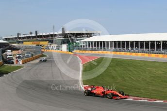 World © Octane Photographic Ltd. Formula 1 – Canadian GP. Race. Scuderia Ferrari SF90 – Sebastian Vettel and Mercedes AMG Petronas Motorsport AMG F1 W10 EQ Power+ - Lewis Hamilton. Circuit de Gilles Villeneuve, Montreal, Canada. Sunday 9th June 2019.