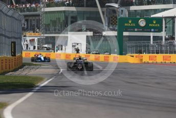 World © Octane Photographic Ltd. Formula 1 – Canadian GP. Race. Rich Energy Haas F1 Team VF19 – Romain Grosjean and ROKiT Williams Racing FW42 – Robert Kubica. Circuit de Gilles Villeneuve, Montreal, Canada. Sunday 9th June 2019.