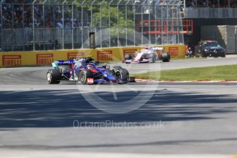 World © Octane Photographic Ltd. Formula 1 – Canadian GP. Race. Scuderia Toro Rosso STR14 – Alexander Albon and SportPesa Racing Point RP19 - Sergio Perez. Circuit de Gilles Villeneuve, Montreal, Canada. Sunday 9th June 2019.