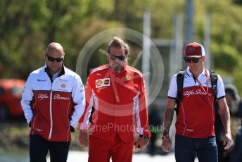 World © Octane Photographic Ltd. Formula 1 – Canadian GP. Paddock. Alfa Romeo Racing C38 – Kimi Raikkonen. Circuit de Gilles Villeneuve, Montreal, Canada. Thursday 6th June 2019.