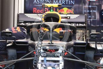 World © Octane Photographic Ltd. Formula 1 – Canadian GP. Pitlane. Aston Martin Red Bull Racing RB15. Circuit de Gilles Villeneuve, Montreal, Canada. Thursday 6th June 2019.