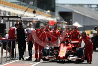 World © Octane Photographic Ltd. Formula 1 – Canadian GP. Scrutineering. Scuderia Ferrari SF90. Circuit de Gilles Villeneuve, Montreal, Canada. Thursday 6th June 2019.